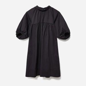 Everlane The Shirred Mini Dress Black Small NWT